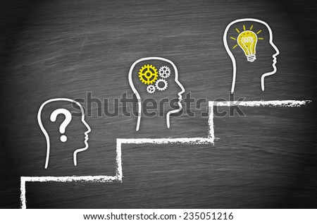 Question - Think - Solution - stock photo