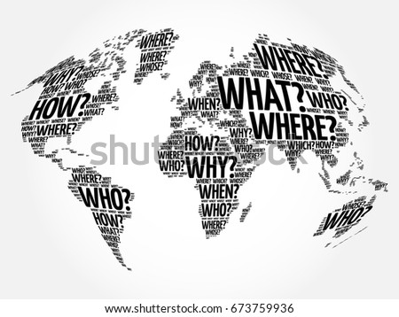 World map background stock images royalty free images vectors question words world map in typography words cloud business concept background gumiabroncs Images