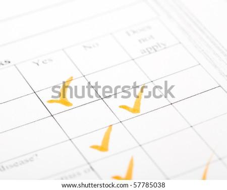questionnaire - stock photo