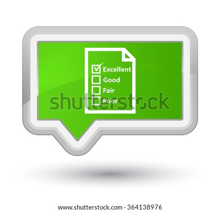 Questionnaire icon soft green banner button - stock photo