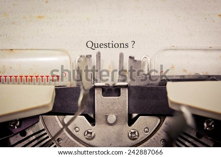 Questions? - stock photo