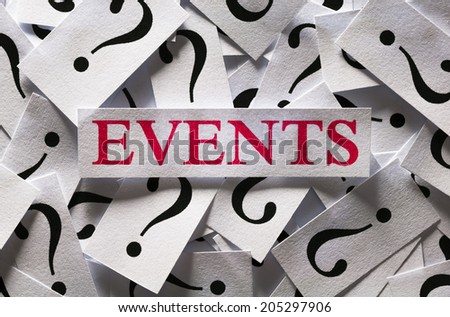 Questions about the Events , too many question marks - stock photo
