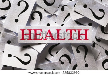 Questions about the Health, too many question marks - stock photo