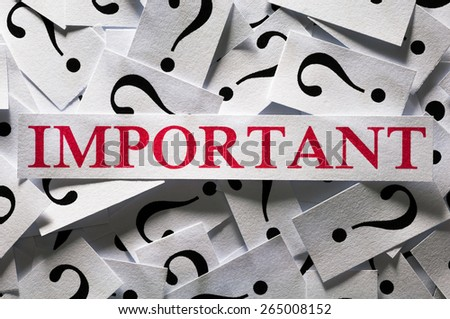 Questions about the Important , too many question marks - stock photo