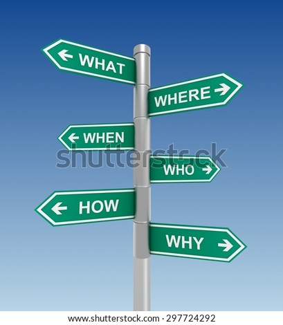 questions direction sign - stock photo