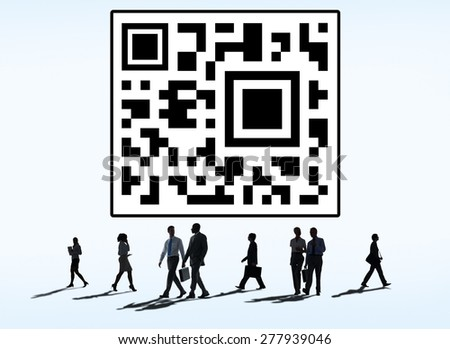 Quick Response Code Scan Technology Electronic Codes Concept - stock photo