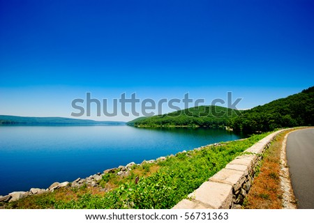 Quiet forest lake - stock photo