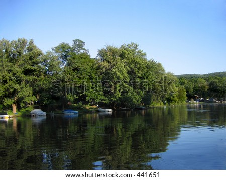 Quiet lakeside community