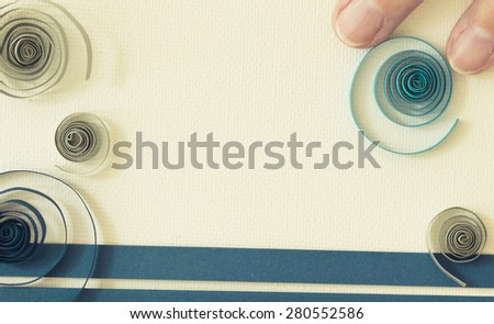 quilling - stock photo