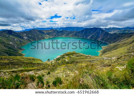 Quilotoa Ecuador Lagoon In Volcano With Turquoise Water Visit Beautiful Places The World And
