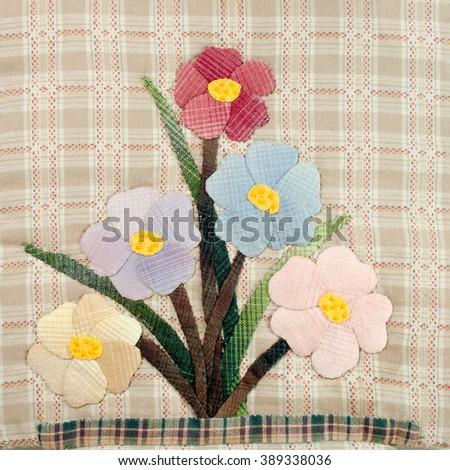 Quilt : Flowers 2 - stock photo