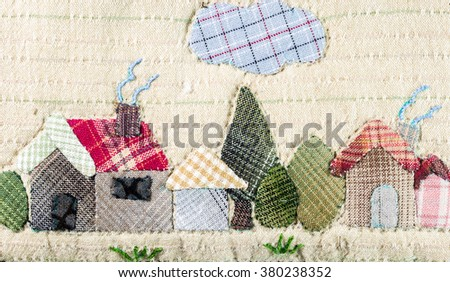 Quilt : Home - stock photo