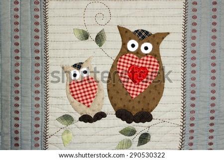 Quilt : Owl - stock photo