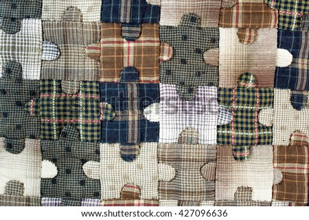 Quilt : Puzzle pattern - stock photo
