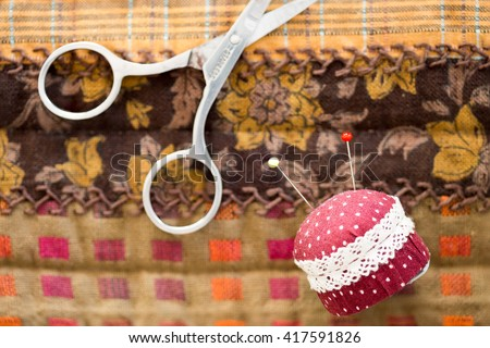 Quilt tool : Pillow of needles - stock photo