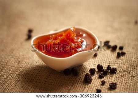 quince jam - stock photo