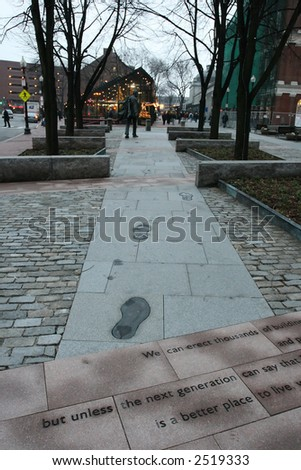 Quincy market, Boston - stock photo