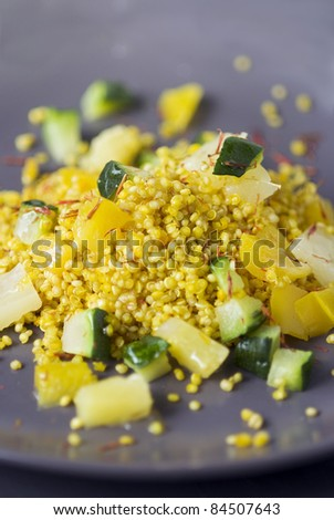 Quinoa, pineapple and zucchini salad - stock photo
