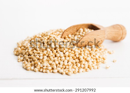 quinoa popping - stock photo