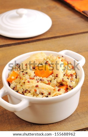 Quinoa with chicken and carrot