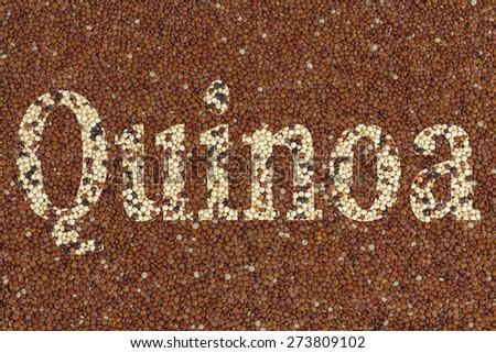 Quinoa with text Quinoa using clipping mask - stock photo