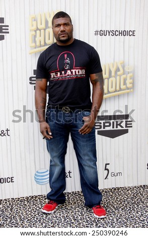 Quinton 'Rampage' Jackson at the 2013 Guys Choice Awards held at the Sony Pictures Studios in Culver City, California, United States on June 8, 2013.