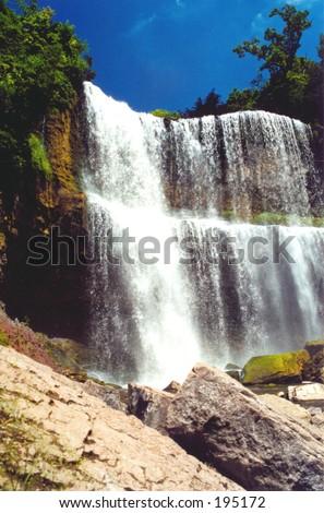 Quite big waterfall #2, Hamilton, ONT, Canada - stock photo