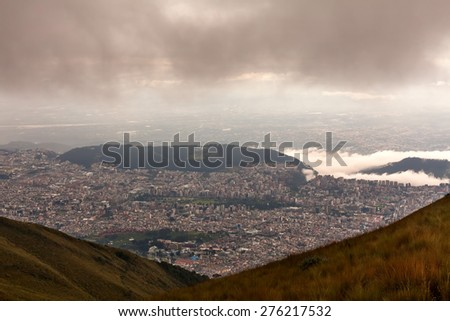 Quito Is The Capital City Of Ecuador And It Is The Highest Official Capital City In The World  - stock photo