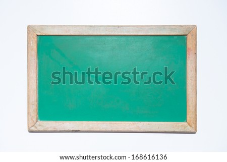 Quotation bubble chalk board - Please leave a message! - stock photo