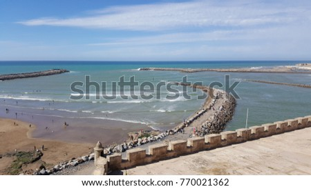 Rabat beach from Kasbah of the Oudayas