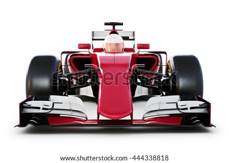 Race Car Driver Front View On Stock Illustration 444338818
