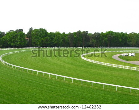 race course - stock photo