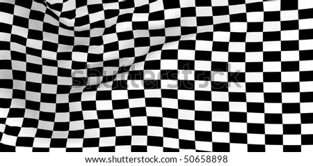 Race flag. High quality 3d render. - stock photo