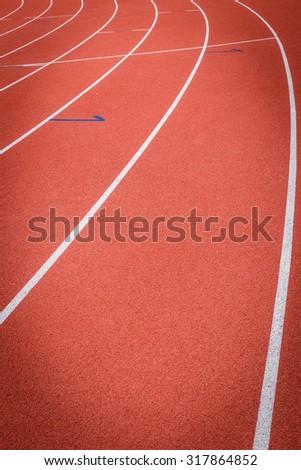 race track - stock photo