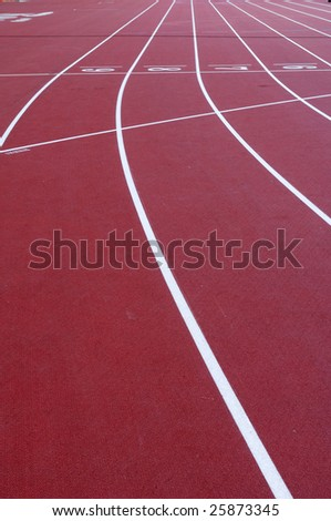 Race track in a playground - stock photo