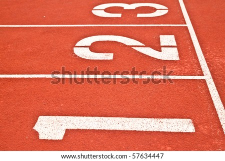 race track in stadium - stock photo