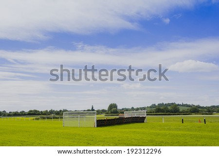 racecourse stratford upon avon warwickshire england uk - stock photo