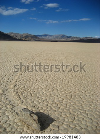Racetrack, Death Valley - stock photo