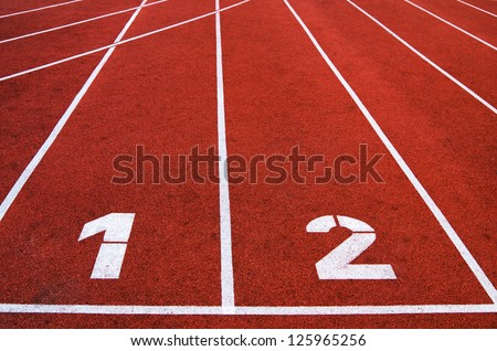 Racetrack in stadium, a close up - stock photo