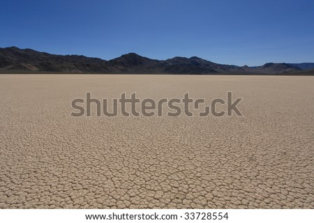 racetrack playa in death valley (1) - stock photo