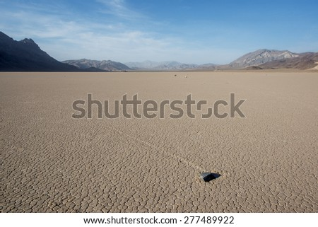 Racetrack Playa in Death Valley National Park. USA. - stock photo