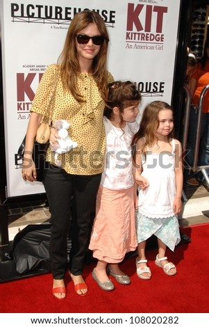 "Rachel Bilson with her sister and her friend  at the world premiere of ""Kit Kittredge: An American Girl"". The Grove, Los Angeles, CA. 06-14-08"