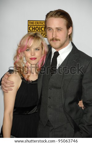 RACHEL McADAMS & RYAN GOSLING at the 12th Annual Critics' Choice Awards at the Santa Monica Civic Auditorium. January 12, 2007  Los Angeles, CA Picture: Paul Smith / Featureflash - stock photo