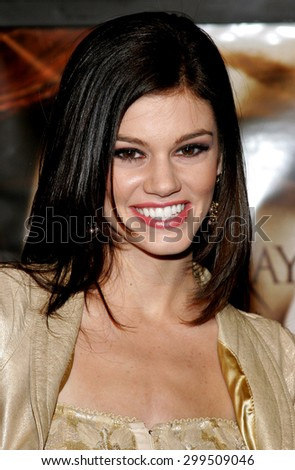 "Rachel Melvin attends the Los Angeles Premiere of ""Bloodrayne"" held at The Mann's Chinese Theater in Hollywood, California, United States on January 4, 2006."