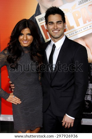 Rachel Smith and Tyler Hoechlin at the Los Angeles premiere of 'Hall Pass' held at the ArcLight Cinemas in Hollywood on February 23, 2011.  - stock photo