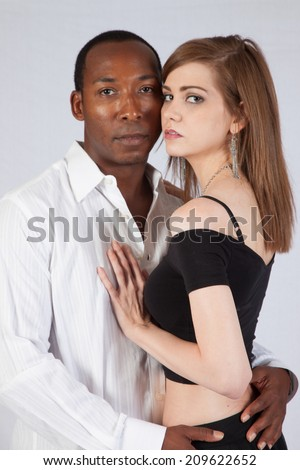 White woman black man relationship
