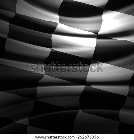 Racing Flag  - stock photo