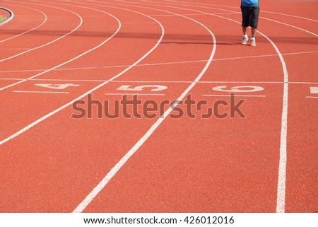 Racing shadows - stock photo