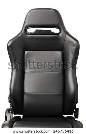 racing simulator seat back, closeup view - stock photo