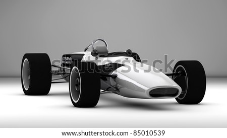 racing sports car concept in retro style - stock photo